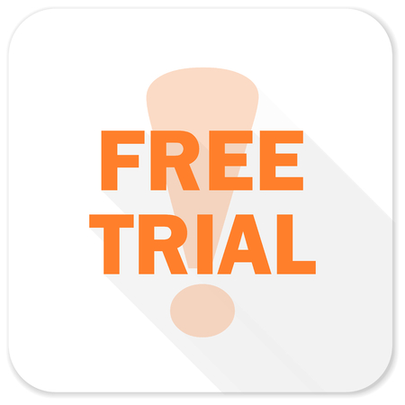 trials: free trial flat icon Stock Photo