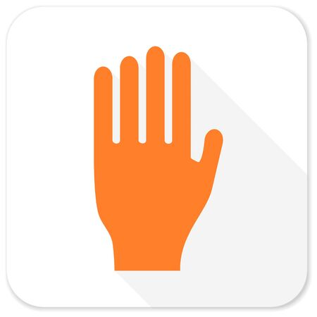 stop hand: stop flat icon