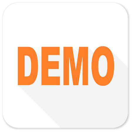 demo: demo flat icon Stock Photo