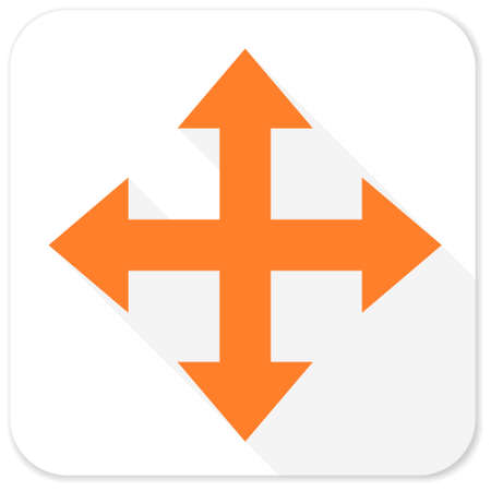 course of action: arrow flat icon Stock Photo