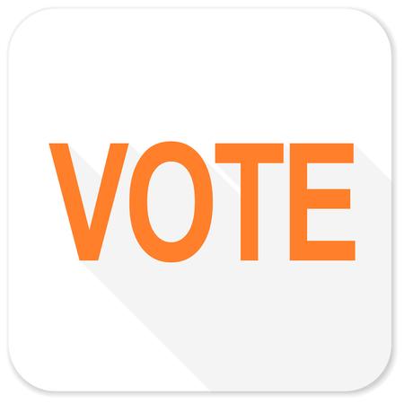 polls: vote flat icon Stock Photo