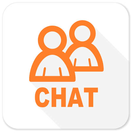 contacts group: chat flat icon Stock Photo