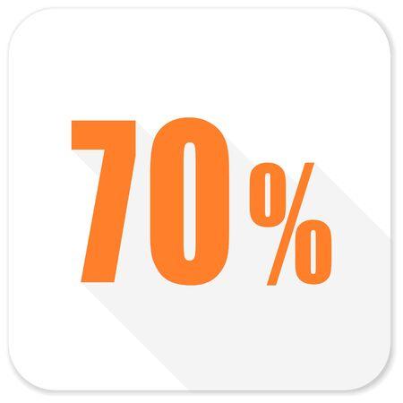 70: 70 percent flat icon
