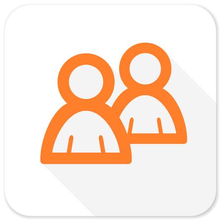 contacting: forum flat icon Stock Photo