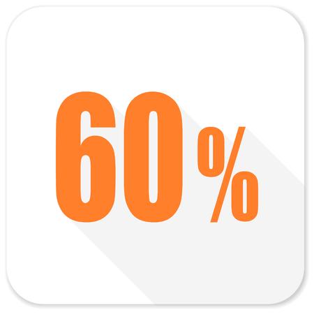 60: 60 percent flat icon