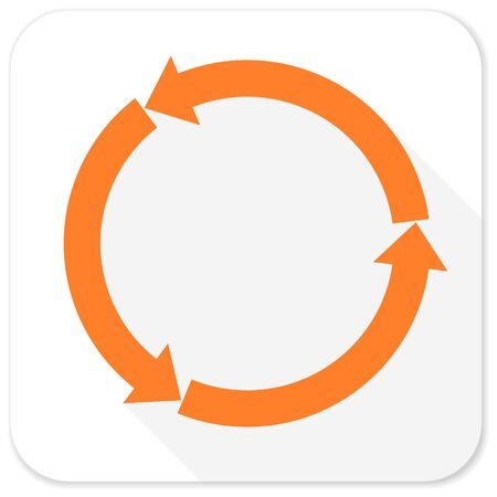 refrescar: refrescar icono plana Foto de archivo