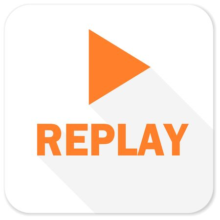 proceed: replay flat icon Stock Photo