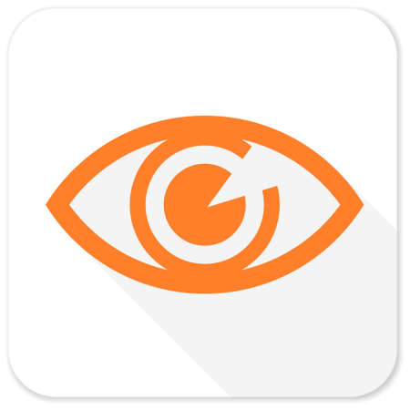 see a doctor: eye flat icon