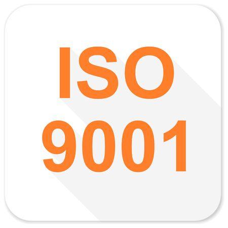 iso: iso 9001 flat icon