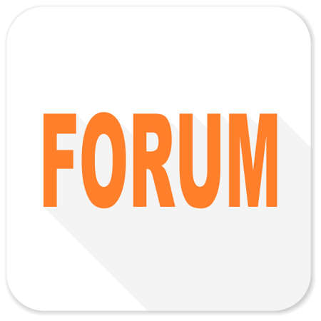 contacting: forum flat icon Stock Photo
