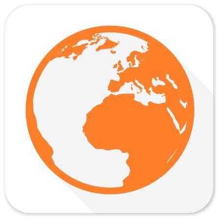 flat earth: earth flat icon Stock Photo