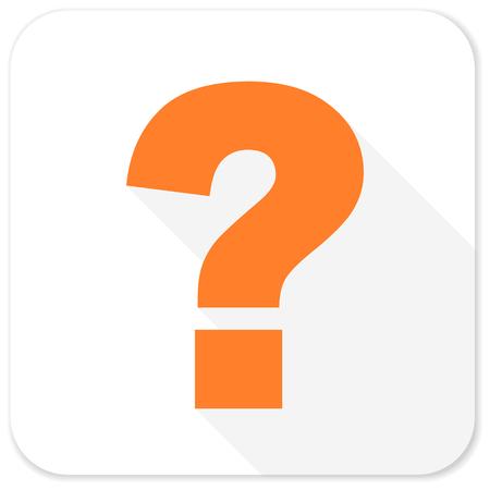 Fragezeichen flach Symbol Standard-Bild