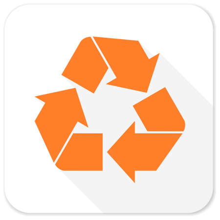 recycle icon: recycle flat icon Stock Photo
