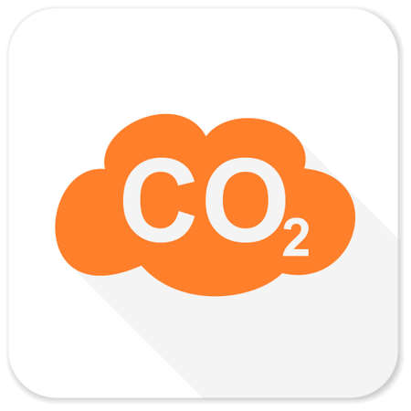 dioxide: carbon dioxide flat icon Stock Photo