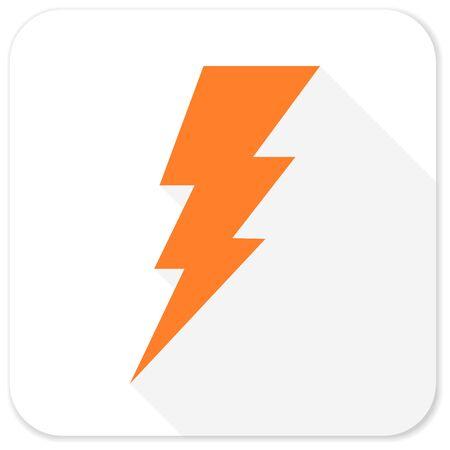 amperage: bolt flat icon Stock Photo
