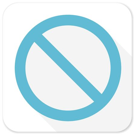 denied: access denied blue flat icon Stock Photo