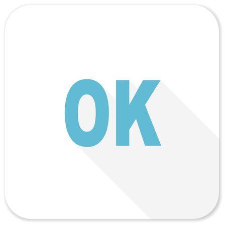 emot: ok blue flat icon