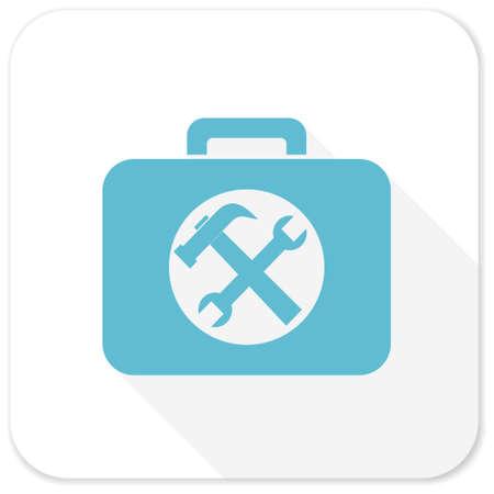 toolkit: toolkit blue flat icon