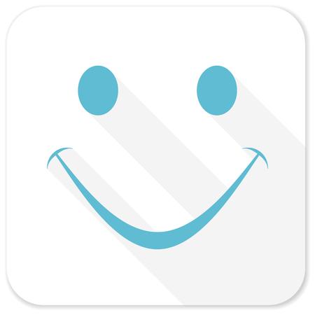 smile icon: smile blue flat icon