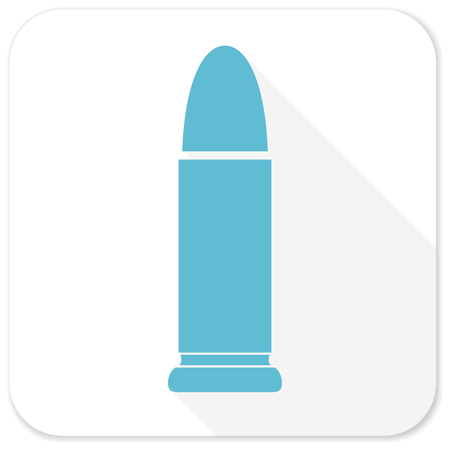 ammunition: ammunition blue flat icon Stock Photo