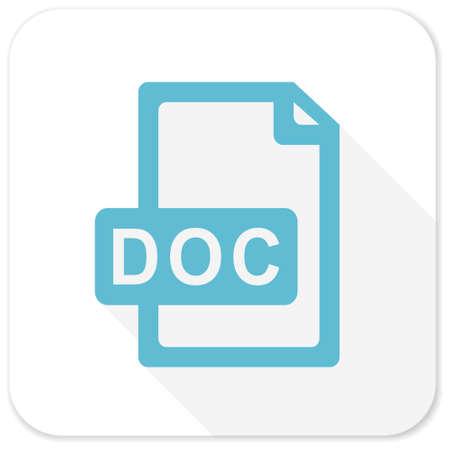 doc: doc file blue flat icon Stock Photo