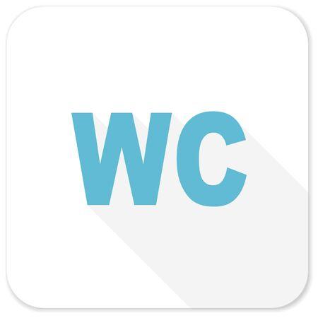 toilette: toilet blue flat icon
