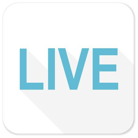 livestream: live blue flat icon