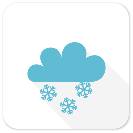 snowing: snowing blue flat icon