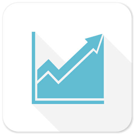 histogram: histogram blue flat icon
