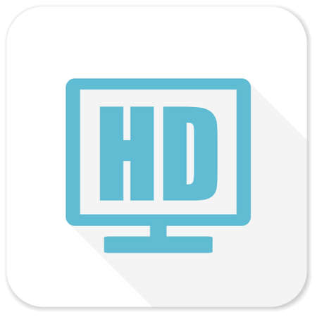 display: hd display blue flat icon Stock Photo