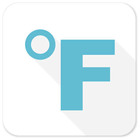 fahrenheit: fahrenheit blue flat icon Stock Photo