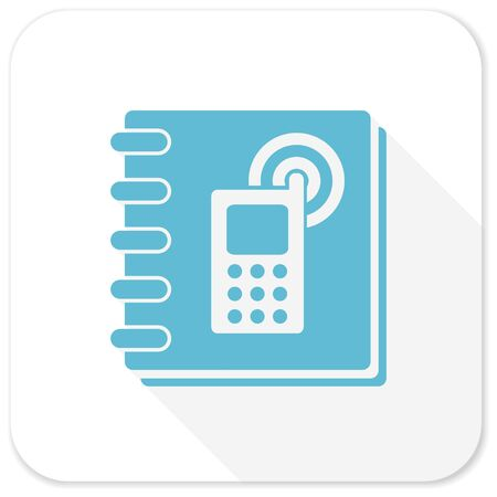phonebook: phonebook blue flat icon Stock Photo