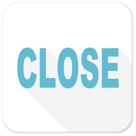 closure: close blue flat icon