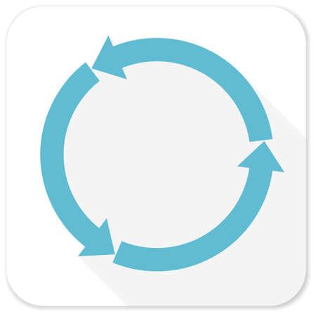 refresh: refresh blue flat icon