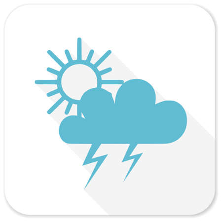 storm blue flat icon