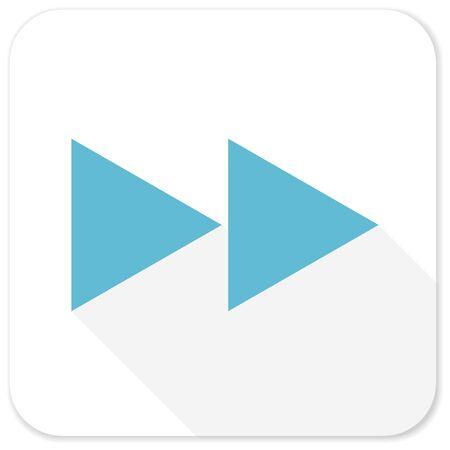 rewind: rewind blue flat icon