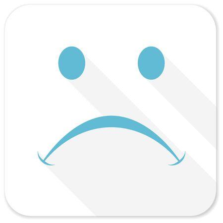 emot: cry blue flat icon Stock Photo