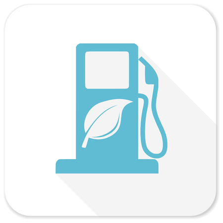 biofuel: biofuel blue flat icon Stock Photo