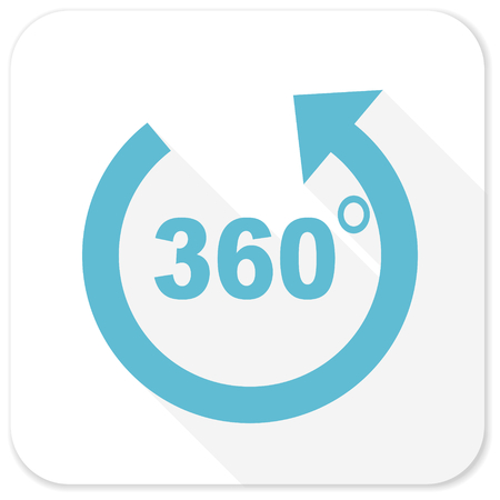 panorama blue flat icon