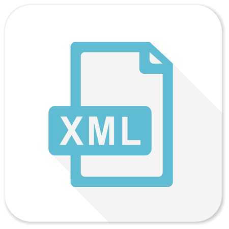 xml: xml file blue flat icon