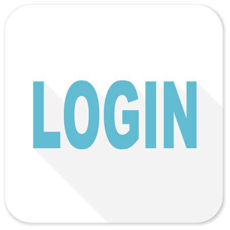 Log Out: login blue flat icon