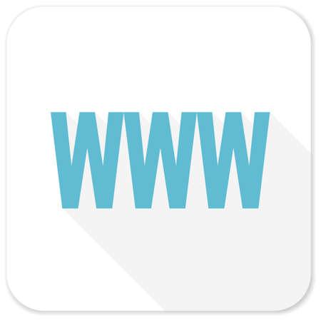 www: www blue flat icon