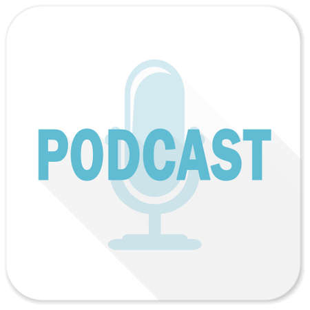 podcast: podcast blue flat icon