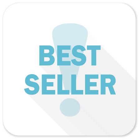 seller: best seller blue flat icon Stock Photo