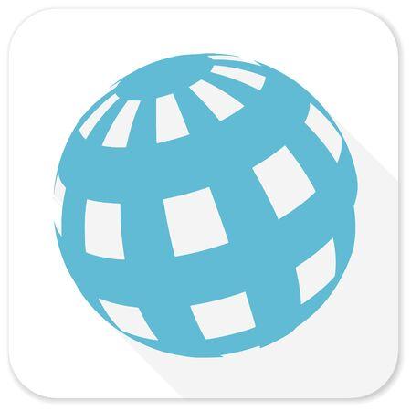 flat earth: earth blue flat icon