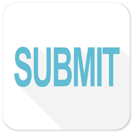 submit: submit blue flat icon