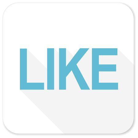 emot: like blue flat icon