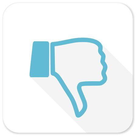 dislike blue flat icon