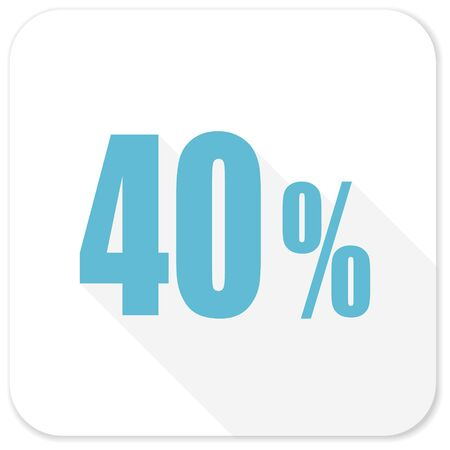 40: 40 percent blue flat icon
