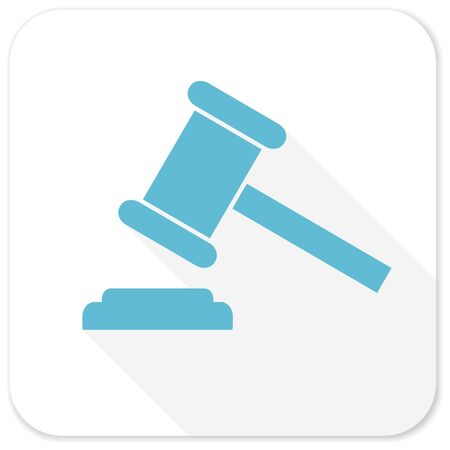 verdicts: auction blue flat icon